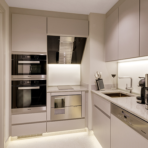 Kitchen Serviced Apartment